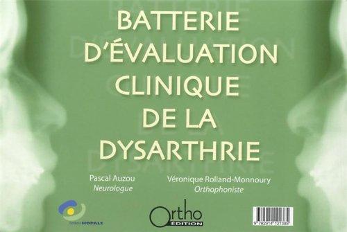 Batterie d'évaluation clinique de la dysarthrie (1CD audio)