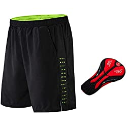 Pantalones cortos de ciclismo sueltos, Pantalones cortos de ciclismo de descenso de Mtb, Pantalones deportivos de ocio multifuncionales al aire libre Poliéster resistente a las roturas Libre,XL