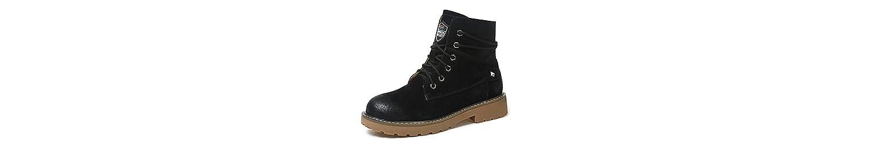 ZHZNVX HSXZ Zapatos de Mujer Auténtica Piel de Goma Moda Otoño Invierno PU Botas Botas Botas Botas de Combate... -