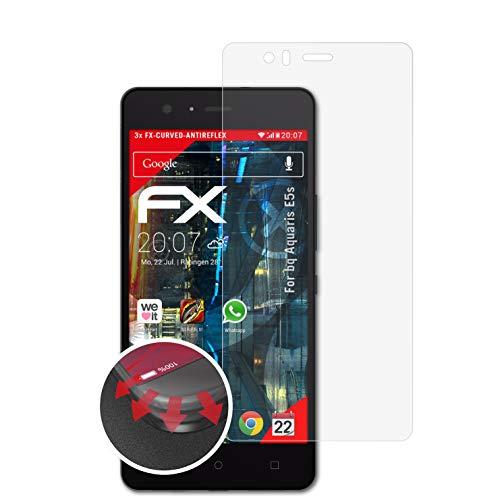 atFolix Schutzfolie passend für bq Aquaris E5s Folie, entspiegelnde & Flexible FX Bildschirmschutzfolie (3X)