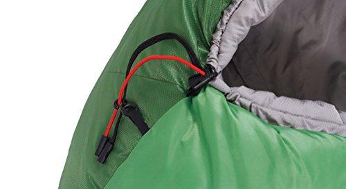 ALEXIKA Schlafsack Aleut, rechte Reißverschluss, grün-grau / grau, 95(Breite oben)x230(Länge) x65(Breite unten), 9232.0107R - 9