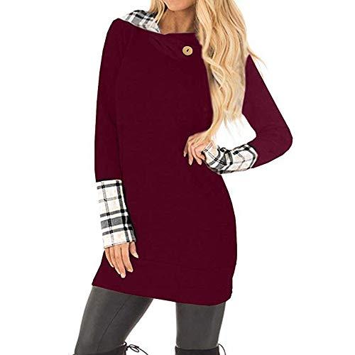 apuzenpullover der Frauen mit Plaid Stulpen Sweatshirt Pullover ()