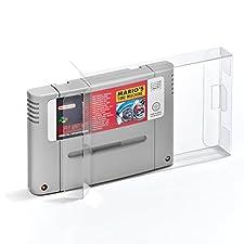 10 Klarsicht Schutzhüllen Super Nintendo [10 x 0,3MM SNES CART PAL] Spiele Module Passgenau Glasklar