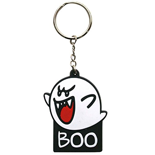 Nintendo KE002569NTN - Super Mario Bros. Boo Rubber Keychain (KE002569NTN)