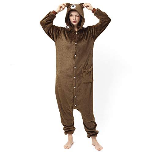 Katara 1744 (30+ Designs) Bären-Kostüm Grizzly, Unisex Onesie/ Pyjama-Qualität für Erwachsene & (Niedliche Tiere Weihnachten Kostüm)