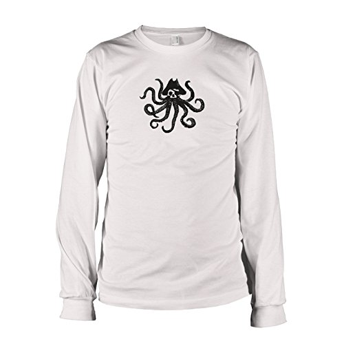TEXLAB - Piraten Krake - Langarm T-Shirt, Herren, Größe XXL, (Jones Davy Kinder Kostüm)