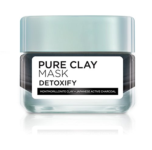 L\'Oreal Paris Pure Clay Clay Mask, Detoxify with Charcoal, 50ml