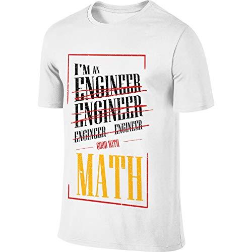5871cd04eb Ytwww123 Particolare I'm An Engineer Buono con Math Funny Sarcasm T-Shirt  Manica