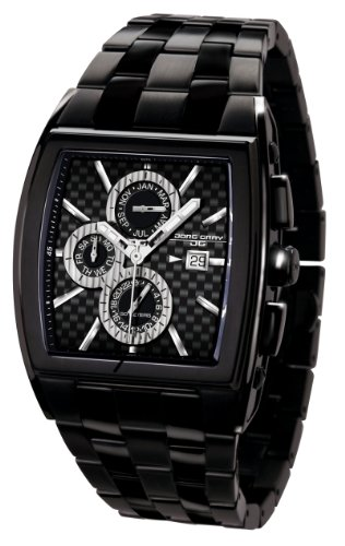 Jorg Gray Men's Chronograph Watch JG6300-32 with Black Dial and Stainless Steel Bracelet