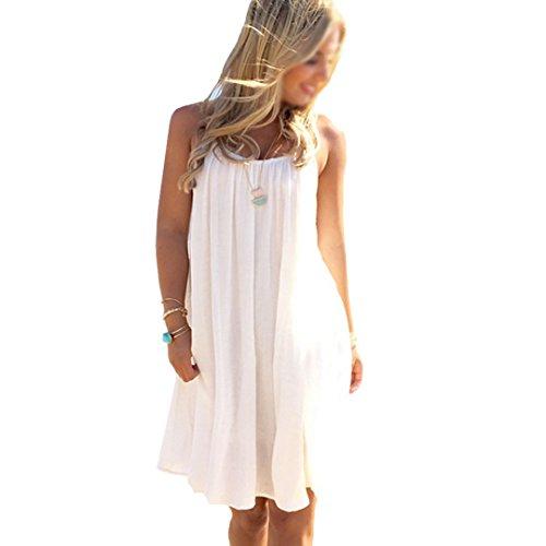 Milya Damen Sling Strandkleid Baumwolle und Chiffon Strand Bikini Badeanzug Strandkleid Strandponcho Sommer Überwurf Kaftan Strandkleid Bikini Cover Up (Size S)