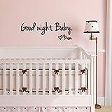 Yuxan Gute Nacht Baby Mom Wohnkultur Wandaufkleber Aufkleber Schlafzimmer Vinyl Kunstwand Wandaufkleber Für 44X14,4 cm