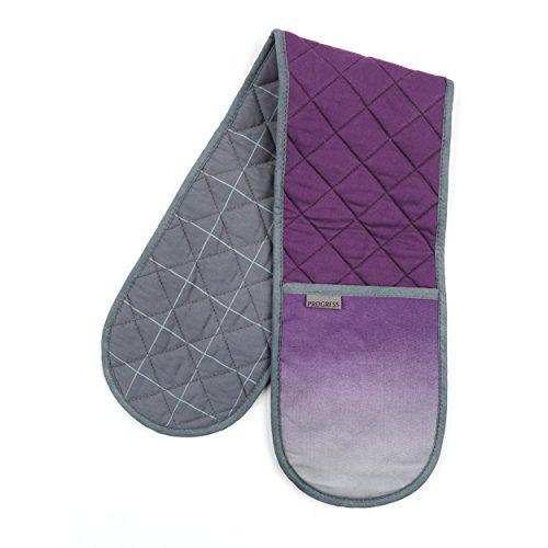 Progress Ofen-Handschuh, Textil, purpur/grau, 17 x 88 x 16 cm - Doppel-backofen-herde