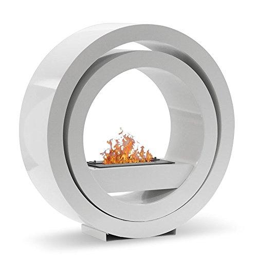 Ina - blanc , cheminée éthanol (poele bio, a poser au sol,mobile,nomade)