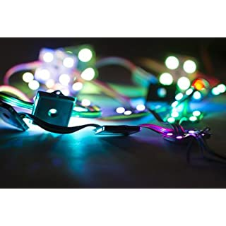 36mm Square 12V Digital RGB Addressable LED Pixels (Strand of 20) - WS2801