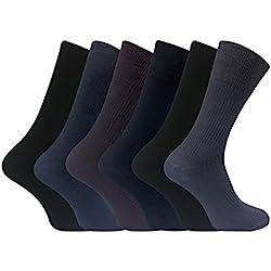 6 pares hombre 100% organico algodon finos largos calcetines sin elastico para la circulacion (39-45 eur, TSFD01)
