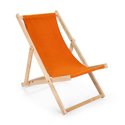Liegestuhl Sonnenliege zusammenklappbar auflage, Strandliege Liege camping schön deco gartenliege outdoor LIEGE Relaxliege (Orange)
