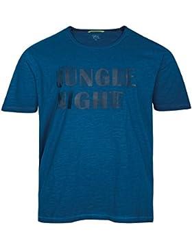 XXL Used Look T-Shirt petrolblau Print Camel Active