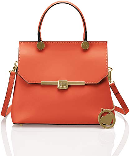 Chicca Borse Damen Cbc7708tar Shopper, Orange (Arancio), 12x23x27 centimeters (Stoff-handtaschen Orange)