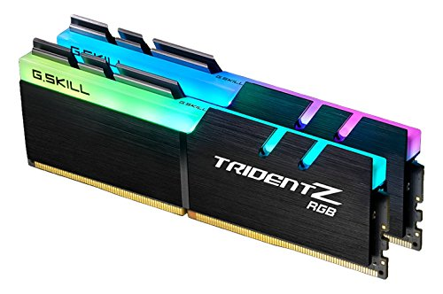 G.SKILL F4-3000C16D-16GTZR 16 GB (8 GB x 2) Trident Z R GB Series DDR4 3000 MHz PC4-24000 CL16 Dual Channel Memory Kit - Black with full length RGB LED light bar