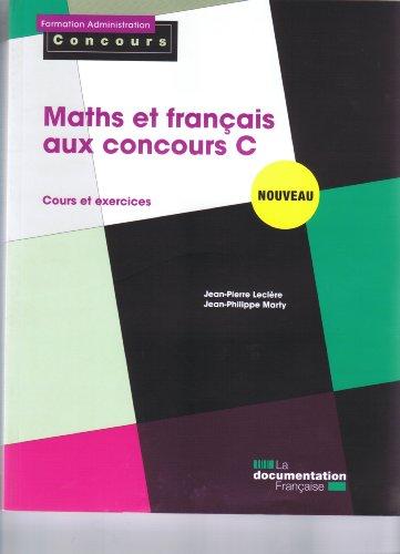 Maths et français aux concours C - Cour...