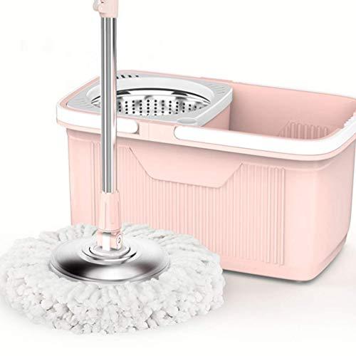 Y&XF Mop Rotante a 360 ° e Secchio per mop con 5 Microfibre, mop per asciugare Lavabile a Mano per la Rotazione di uragano per la Pulizia del Pavimento