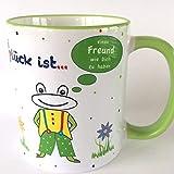 Geschenk Valentinstag Freund, Tasse Frosch, Geschenke Frosch, Freundschaftstasse, Glück ist einen Freund wie Dich zu haben, last minute Geschenk, bester Freund, versandfertig,