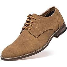 Jivana - Zapatos de Cordones de Ante para Hombre