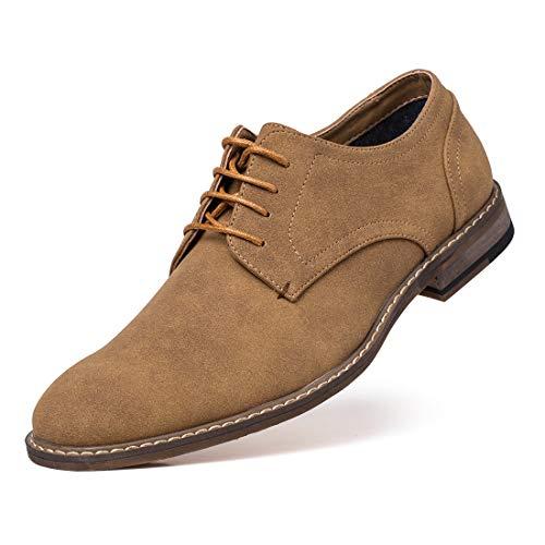 ec28a6b59d3 Jivana - Zapatos de Cordones de Ante para Hombre