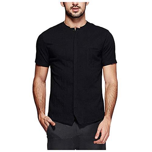 Damen Beratung-kittel (KUKICAT Herren-Wäsche Kurzarm-T-Shirt, Hemd der Männer Sommer Kurzarm-Shirt T-Shirt mit V-Ausschnitt T-Shirt T-Shirt für Männer Casual V-Ausschnitt T-Shirt Hemdknopf)