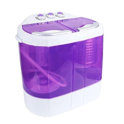 Display4top Electric Mini Portable Compact 3.6KG Capacity Washer Washing Machine Spin Dryer Laundry (Purple)