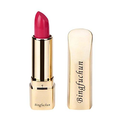 Voberry Rouge à lèvres Matte Imperméable Longue Durée Lip Femmes Or Cosmétique Beauté Maquillage (F)