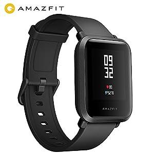 AMAZFIT Bip huami Smartwatch con GPS, de frecuencia cardíaca, Deporte y Fitness Rastreador, IP68impermeable, 45Días inactivo