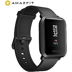 AMAZFIT Bip Huami Reloj Inteligente con GPS, Monitor de Ritmo cardíaco, táctil, Impermeable, Funciona con iOS y Android