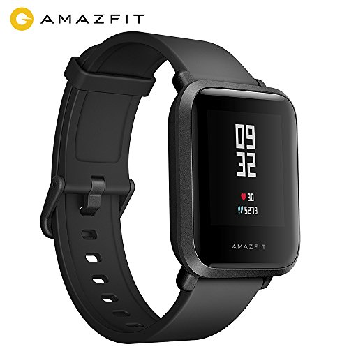 AMAZFIT Bip Smart Watch, Smart Watch Fitness with GPS, Real-time Heart Rate, Touch Screen, Waterproof Sport Fitness and Sleep Tracker, Barometer, Geomagnetic Sensor, Notification, Works with iOS and Android