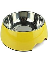 LIANPINGTazón de fuente del perro del animal doméstico de perro gato de tazón de fuente de alimentación doble del tazón de fuente perro mascota beber tazones tazón de fuente . b . m- medium