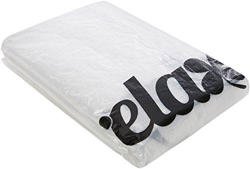 Relaxdays Schutzhülle Tischtennisplatte mit Reißverschluss, Outdoor, wetterfest, robuster Schmutzschutz, PE, transparent