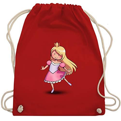 Dance Partner Kostüm - Karneval & Fasching Kinder - Tanzende Prinzessin - Unisize - Rot - WM110 - Turnbeutel & Gym Bag