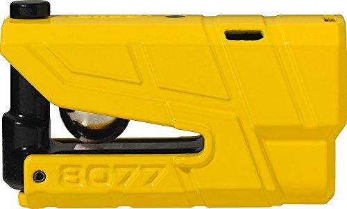 ABUS 8077-2Bremsscheibenschloss Alarm Moto SRA, Gelb