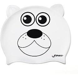 Finis Swim - Gorro de natación infantil, tamaño Cero, color blanco