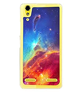 Colourful Galaxy 2D Hard Polycarbonate Designer Back Case Cover for Lenovo A6000 Plus :: Lenovo A6000+ :: Lenovo A6000