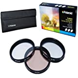 Polaroid Optics 82mm 3 Piece Special Effect Camera/Camcorder Lens Filter Kit (Soft Focus Revolving 4 Point Star Warming)