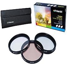 Polaroid Optics 58mm 3-Stück Spezialeffekt Kamera / Camcorder-Objektiv Filter Set (Soft Focus, Drehender 4-Punkt Star, Wärmefilter)