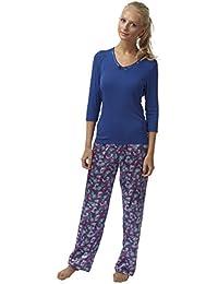 6424213db9 SaneShoppe Ladies Charmeuse Satin Pyjamas 3 4 Sleeve Butterfly Print  Viscose…