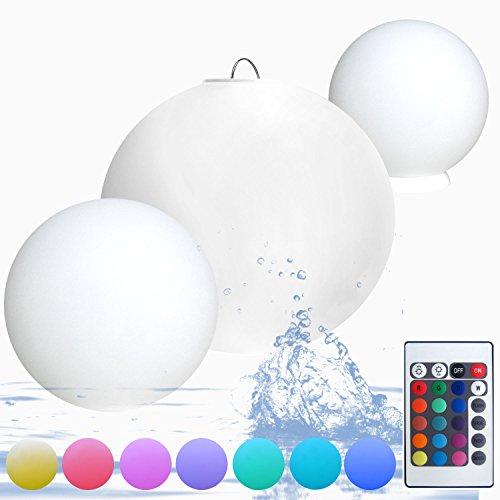 kabellose led leuchtkugel outdoor kugellampe 40cm ball. Black Bedroom Furniture Sets. Home Design Ideas