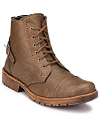 65904737a59 Big Fox Tan and Brown Synthetic Leather Casual Boots for Men. ON Sale Now!
