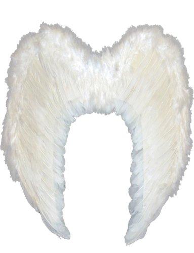 dern Engel Fee Flügel Groß Damen Karneval Fasching Kostüm Erwachsene Größe 60cm x 40cm (Weiß) (Kostüm Engel-flügel Für Erwachsene)