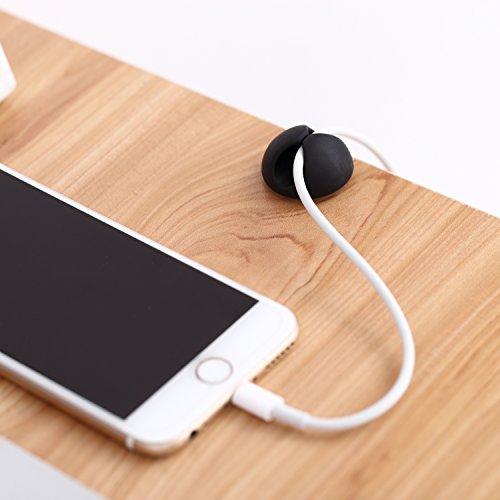confronta il prezzo Cable Drop, Accevo Clip di cavi multifunzione per gestione dei cavi, Nero, confezione da 10 pezzi miglior prezzo