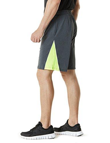 Tesla Active pantaloncini sportivi performance Hyperdri II da uomo con tasche MBS01/MBS02/MBS03 MBS03-DGY