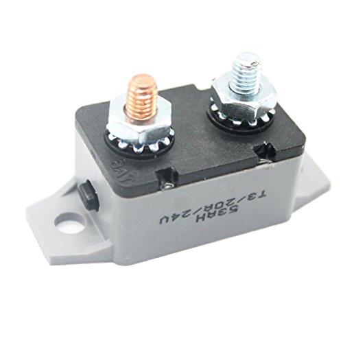 Sharplace 1 x 12v Auto Audio Automatisches Reset Leistungsschalter Sicherung Stehbolzen, Aftermarket-Teil - als Bild - 20a