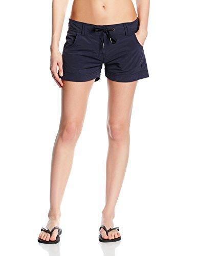 Marc O'Polo Body & Beach Damen Shorts Badeshorts BEACH-SHORTS, Gr. 42 (Herstellergröße: XL), Schwarz (blauschwarz 001)